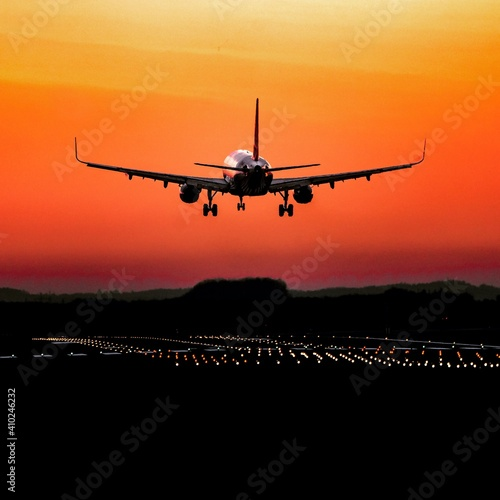 Photo A320 Sonnenuntergang