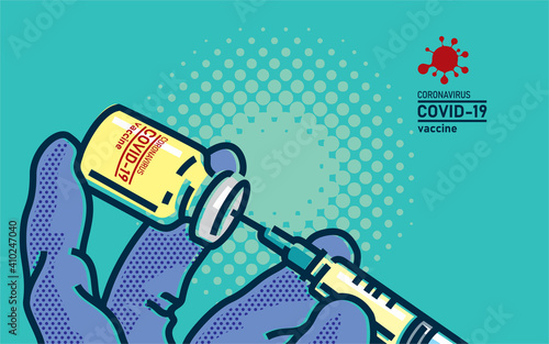 Fotografiet Coronavirus COVID-19 vaccine