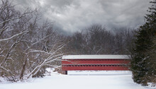 Sachs Covered Bridge In The Snow