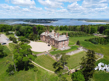 Historic Mansion Castle Hill On The Crane Estate Was Built In 1926 With Tudor Revival Style At The Ipswich Bay In Town Of Ipswich, Massachusetts MA, USA.
