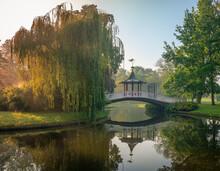 Denmark, Copenhagen, Bridge In Frederiksberg Gardens