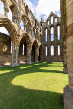 Interior Of Whitby Abbey At Yorkshire, UK