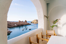 Scenic View Of Mediterranean Sea Against Sky Seen Through Window