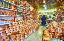 The Store Of Copper Cookware, Kerman, Iran