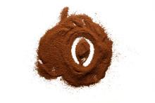 Alphabet Using Ground Coffee