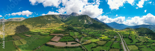 Panoramic view of Pedraforca, a mountain in Pyrenees, Spain