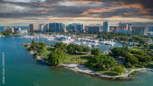 Fotografie, Obraz Downtown Sarasota Florida Sunset