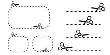 Black Scissors Different Shapes. Retro Icon For Paper Design. Vector Illustration. Stock Image. EPS 10.