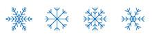 Copo De Nieve. Conjunto De Copos De Nieve De Diferentes Estilos