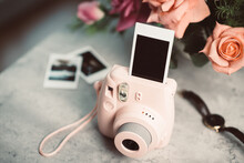 Pink Instant Camera