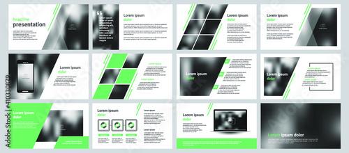 Obraz Modern powerpoint presentation templates set. Use for modern keynote presentation background, brochure design, website slider, landing page, annual report, company profile, facebook banner. - fototapety do salonu