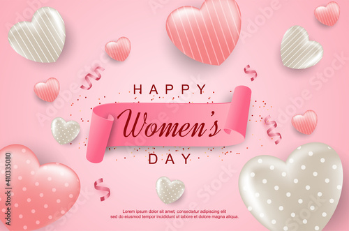 Women's day with 3D love