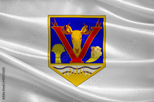 Fototapeta Flag of Vernon in British Columbia in Canada