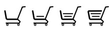 A Selection Of Abstract Web Icons Grocery Baskets From The Supermarket - Vector