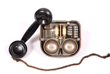 Disassembled Old Retro Vintage Rotary Phone