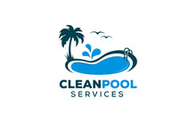 Swimming Pool Maintenance And Cleaning Logo