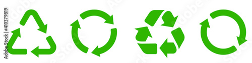 Obraz Recycle icon collection. Set recycle signs. Recycle recycling symbol. - fototapety do salonu