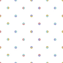 Seamless Simple Geometric Pattern Background With Multicolour Glitter Polka Dot