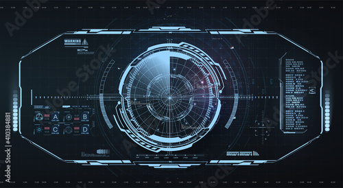 Fotografia Abstract virtual graphic touch user interface