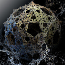 Fractal Background With Ice