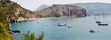 Panoramic Wide View On The Stunning Bay Of 'Buon Dormire' (Sleep Well).  Palinuro, Salerno, Italy.