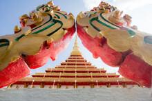 Kaen Nakhon The Great Stupa At Nong Waeng The Royal Temple In Khon Kaen, Thailand