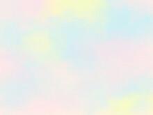 ふわふわの虹色壁紙素材、まだらな水彩画背景イメージ