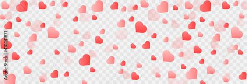 Fotografija Vector confetti made from hearts
