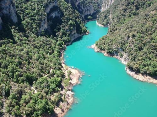 Fototapeta Vistas aéreas del desfiladero de Montrebei entre Catataluña y Aragón