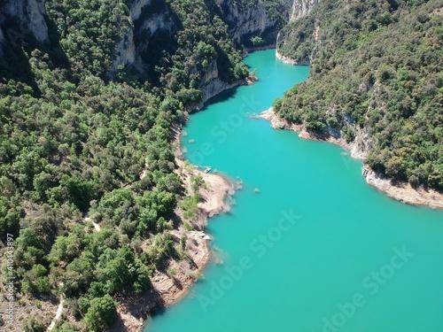 Obraz na plátně Vistas aéreas del desfiladero de Montrebei entre Catataluña y Aragón