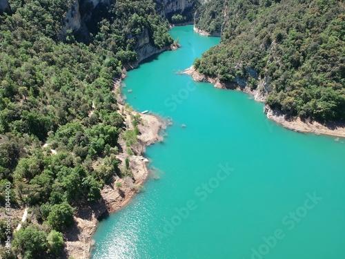 фотография Vistas aéreas del desfiladero de Montrebei entre Catataluña y Aragón