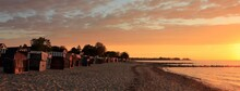 Magical Seaside View At Strande Beach By The Baltic Sea, Banner