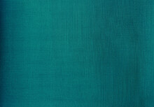 Close Up Detail Of Teal Green Fabric Texture Background. Interior Curtain Fabric Texture Background. Texture Of Fabric Jean Texture Background
