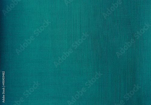 close up detail of teal green fabric texture background Fototapeta