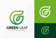 Letter G Nature Leaf Logo Design, Green Leaves Modern Logos Designs Vector Illustration Template
