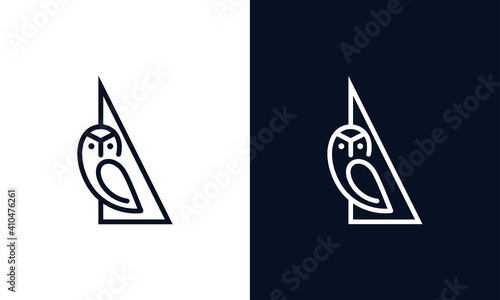 Fotografia Simple and creative owl logo design vector