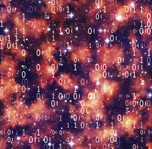 Codes Of Numbers On Space Background