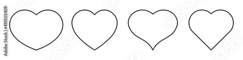 Obraz Most popular heart shapes - fototapety do salonu