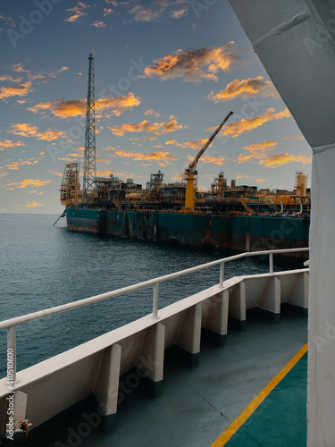 Canvas Print Floating production storage and offloading (FPSO) vessel, oil and gas indutry