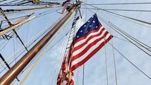 American Flag On A Mast