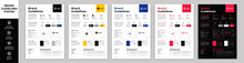 DIN A3 Brand Guidelines Poster Layout Set, Brand Manual Templates, Simple Style And Modern Layout Brand Style, Brand Identity, Brand Guidelines