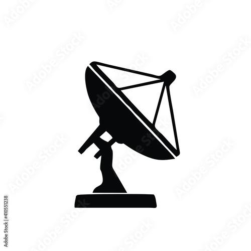 Satellite antenna line icon Fototapet