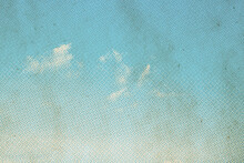Retro Sky Pattern On Old Paper