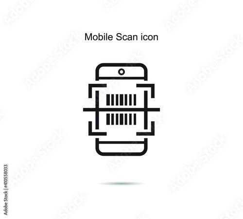 Obraz Mobile Scan icon vector illustration graphic on background - fototapety do salonu