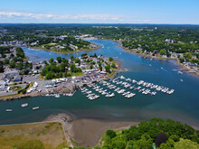 Danvers Liberty Marina Aerial View At 130 Water Street At Crane River And Waters River In City Of Danvers, Massachusetts MA, USA.