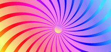 Specturm Rainbow Sunburst Background