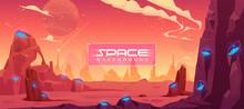 Space Background, Alien Fantasy Planet Landscape
