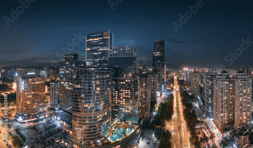 Fototapety, obrazy: City night view of Huizhou City, Guangdong Province, China