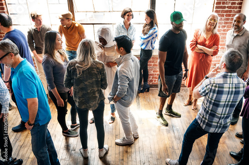 Group of people communicating