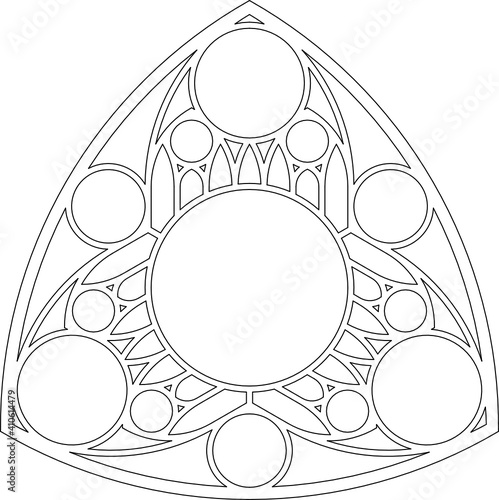 Rose Window, Fig. 20, triangular 1, base, round 1, framework Wallpaper Mural